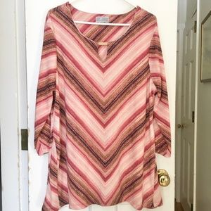 WOMEN'S JM Collection Sparkly Tunic Top SIZE XL